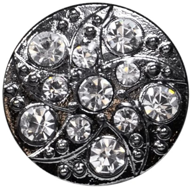 Expo Rhinestone Settings Round Swirl Button BTN1345GM,Gunmetal