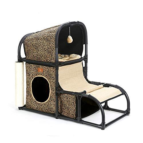 HHORD Gato Gato del Árbol Rascador Árbol De La Torre, Gato Escalada Juguetes Torre con Gato Casero para Interior/Exterior Actividad Gatos (Extraíble, Fácil De Limpiar),B