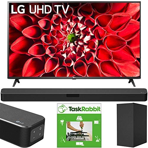 LG 70UN7070PUA 70-inch UHD 70 Series 4K HDR AI Smart TV Bundle SN5Y 2.1 Channel High Res Audio Sound Bar with DTS Virtual:X and Taskrabbit Installation Service