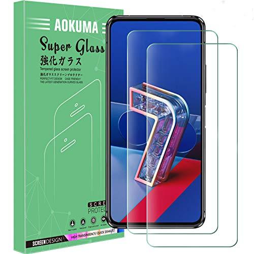AOKUMA ASUS Zenfone 7/Zenfone 7 Pro Verre Trempé, [Lot de 2] Verre Trempé ASUS Zenfone 7/7 Pro [0.26mm] [Extreme Résistant aux Rayures][Haut Définition] Facile Installation Film Protection écran