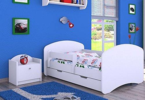 'Cuna 'Blanco con colchón y cama (160/80cm–Nuevo