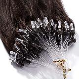 (20'/50cm,50g) Extension a Froid Cheveux Naturel Loops 02#Châtain Foncé [0.5g * 100...