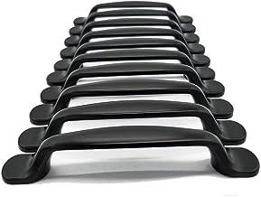 10 Stks eenheden zwart aluminium kast deur lade handgrepen knoppen Pull handgrepen boog vorm Pull handvat
