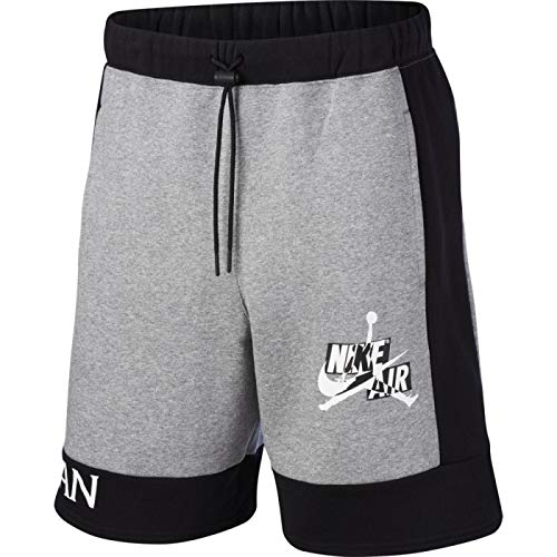 NIKE - M J Jmc FLC Short, Pantalones Cortos Deportivos para Hombre, Hombre, Pantalones Cortos Deportivos, CK6753, Carbono Heather/Black, X-Large