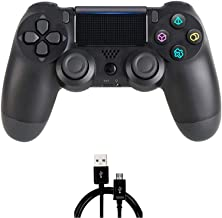 PS4 Controller MOVONE Wireless Controller with USB Cable for Playstation 4