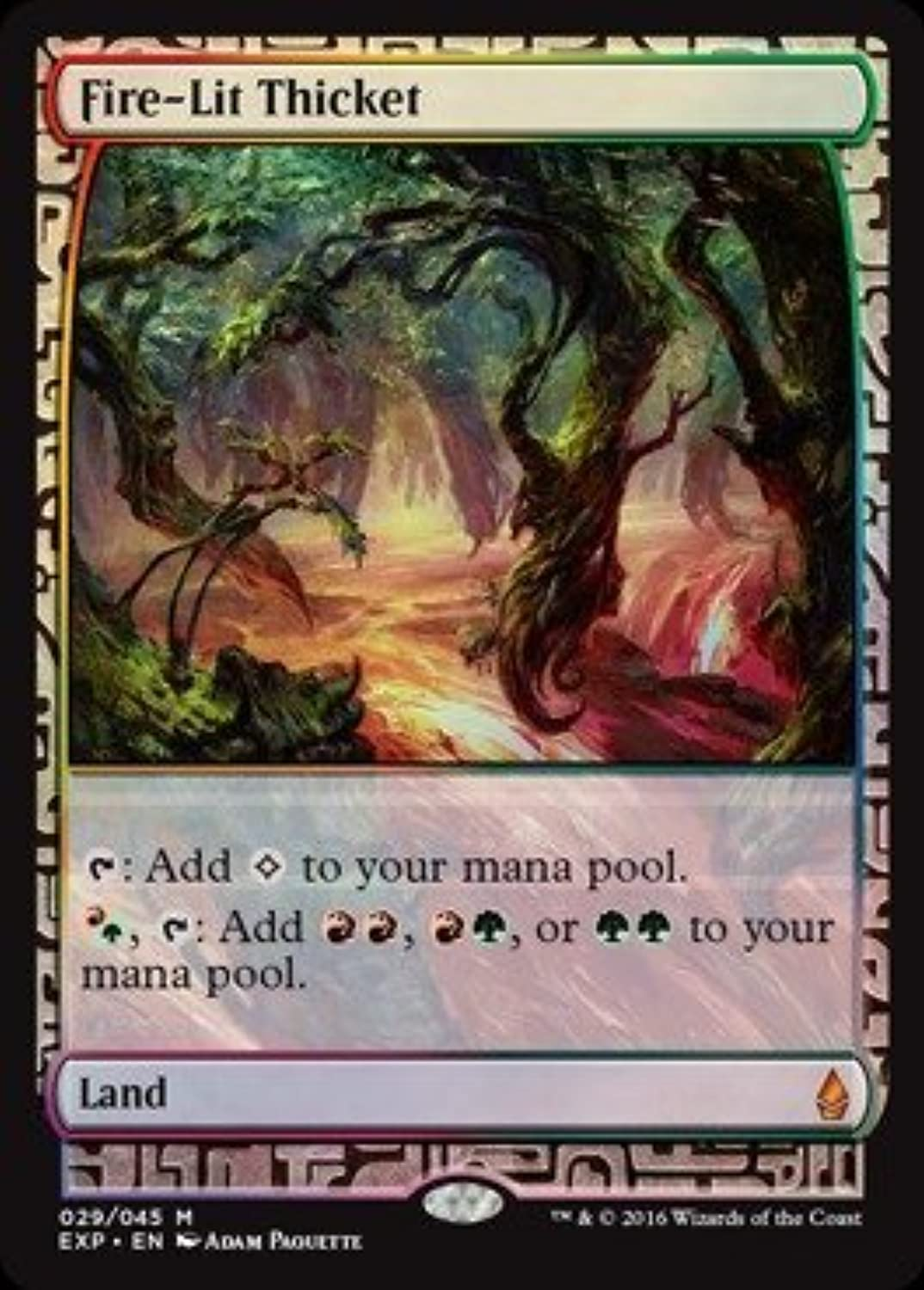 Magic  the Gathering - Fire-Lit Thicket - Expedition Lands - Foil by Magic  the Gathering B01MXBT44I Ruf zuerst   Zürich