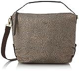 Borbonese Hobo Bag, Borsa a Spalla Donna, Marrone (Op Classico/Marrone), 30x28.5x12 cm (W x H x L)
