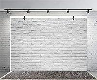 Qinunipoto 背景布 背景紙 写真背景布 背景シート 写真 撮影用 小道具 壁 れんが 灰色のれんが壁 背景 撮影 布 背景写真 撮影背景 写真の背景 子供の写真 装饰布 飾り撮影小道具 無反射布 ビニール 3.5x2.5m