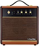 ClearClick Active Bluetooth Speaker - Vintage Retro 70's 80's Guitar Amp Style - Premium Wood & Faux Leather Design