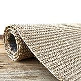 Fibra natural alfombra,sisal jute tejido a mano alfombras,sano no-resbalón humedad-prueba grueso alfombra para salón dormitorio tostado claro 100x150cm(39x59inch)