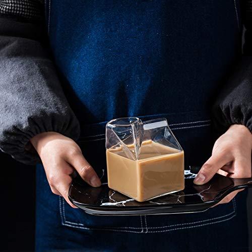 PINSHangFENg Botella de agua creativa de 250 ml, cristalería moderna, juego de vasos para beber, se puede utilizar para café, cerveza y otras bebidas