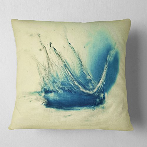 Designart Fresh Water Splash Blue Abstract Throw Cushion Pillow Cover For Living Room Sofa 26 X 26 Shefinds