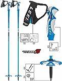 LEKI Bâtons de Ski Adulte Bird Carbone 125 cm Base Color: Blue/Design: Dark Blue-White