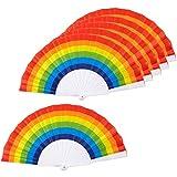 Moligh doll Rainbow Fans-Pack di 6 Rifornimenti per Feste Rainbow per Feste Un Tema Arcobaleno Ed Eventi LGBT o Gay Pride, 9.25X1.25X0.75 Pollici