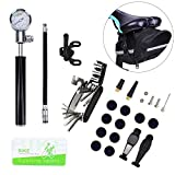 Bike Tire Repair Tool Kit with Mini Gauge Hand Pump, Including...