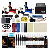 Tattoo Kit, Phoenixy Tattoo Machine Kit 2 Pro Dragonfly Rotary Tattoo Gun Professional Complete Shading & Lining 20+1 Tattoo Inks 50 Needles 50 Tips Tattoo Supply For Artists