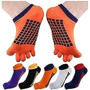 BESTOD フットカバー 5本指靴下 メンズソックス ショートソックス くるぶし スポーツ ビジネス 通気防臭 5足セット
