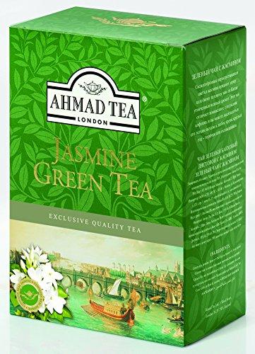 Ahmad Tea – Jasmine Green Tea | Grüner Tee mit Jasminblüten | 250 g loser Tee