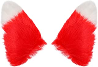 BAOBAO Fluffy Long Fur Cat Fox Ears Hair Clip Headpiece Cosplay Halloween Costume