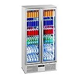 Royal Catering RCGK-458S Nevera Expositora de Bebidas Frigorifico Botellas Nevera para Bebidas Refrigerador (458 L, 2–10 °C, 295 W,...