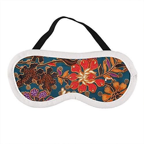Draagbaar Oogmasker voor Mannen en Vrouwen, Maleisische en Indonesische Batik Patroon De Beste Slaap masker voor Reizen, dutje, geven U De Beste Slaap Omgeving