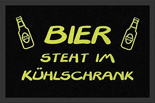 for-collectors-only Fußmatte Bier Steht im Kühlschrank - Fußabstreifer Türmatte Schmutzmatte Fussmatte Teppich Doormat