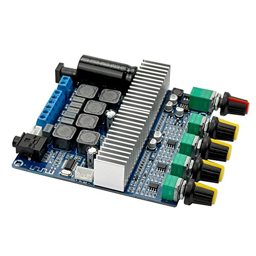 uniquegoods TPA3116 DC 12-24V Bluetooth 4.2 Digital Audio Verstärker Board High-Power 2.1 Super Bass Lautsprecher