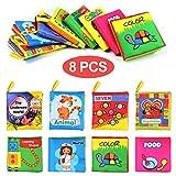Libros de Tela para Bebé Libro Bebe Activity Tejido Blando Libros Blandos Bebes libro para un desarrollo interactivo, regalo para navidad