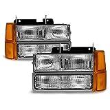 ACANII - For 1994-1998 Chevy Silverado Suburban Tahoe Headlights+Corner Lights+Bumper Parking Lamps Driver & Passenger