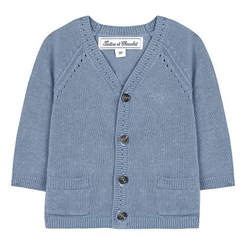 TARTINE ET CHOCOLAT Cardigan enfant avec boutons et poches - Bleu - 3 ans