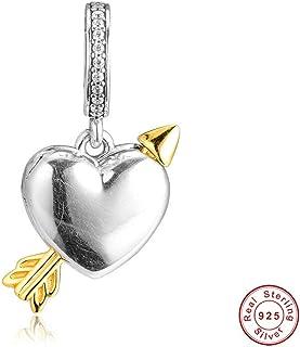 d70164d099 Funshopp 2019 - Ciondolo a forma di freccia d'amore, in argento 925,