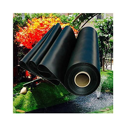 Membrana Resistente a la Rotura Mallas Flexibles para estanques Espesor 0.5 mm Revestimiento Estanques Forros de Estanque Negro Material de HDPE para Pond Liner para jardín,paisajismo (3×9m)
