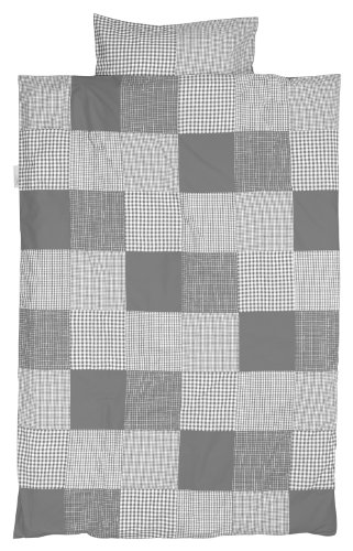 Taftan Patch Vérifie Parure Housse de Couette 100 x 135 cm pour berceau