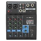 Consola mezcladora de audio profesional con placa de sonido, consola mezcladora de audio estéreo...