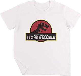 Billy and The Cloneasaurus Niños Chicos Chicas Unisexo Camiseta Blanco