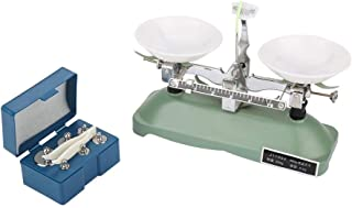 200g/0.2g Mechanical Tray Balance Scale with Sensitivity Portable Chemical Physics Laboratory Teaching Tool with Tray Balance,Tweezers and Various Weights
