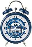 Star Wars R2-D2 Mini Twin Bell Clock, Blu