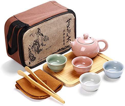 Chinese Ranking integrated 1st place Travel Kung Fu Tea Teapot Portable Set Clearance SALE Limited time Porcelain Ceramic