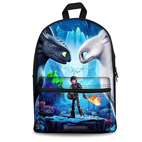 Foruidea Funny Dragon Kids Mochila de regreso a la escuela, mochila para niños, 45,72 cm, ligera para niños y niñas