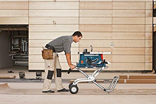 Bosch Professional Piètement roulant GTA 60 W (Longueur de la table de travail : 1 220 mm, Hauteur table de travail : 622 mm)