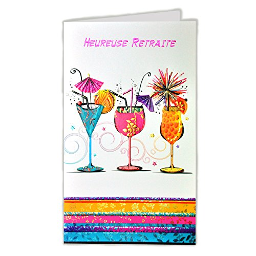 Afie 15–6302tarjeta despedida Feliz jubilación–Bebida