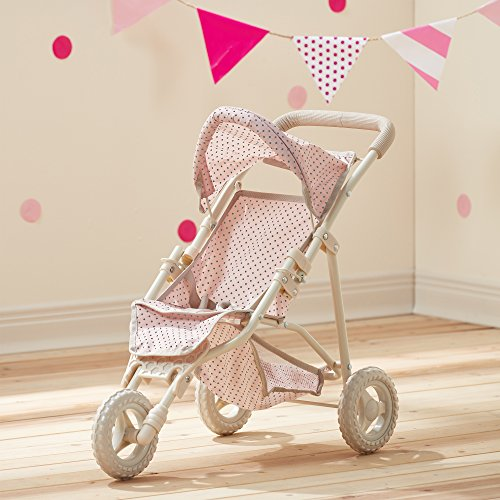 Olivia's Little World - Polka Dots Princess Baby Doll Jogging Stroller - My First Foldable Baby Doll...