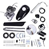 Ywbaw 2021 New 80cc Bicycle Engine Kit, Full Set of 2 Stroke Bike Modified Engine Kit, Single Cylinder, Air-Cooling, Heavy Duty Metal Engine Body, (Silver)