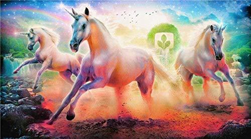 XIAOSHI Cureture Erwachsene und Kinder Puzzles Der 1000 Stück Einhörner Pferd Regenbogenbaum Großes Puzzle Spiel Interessantes Spielzeug Personalisiertes Geschenk