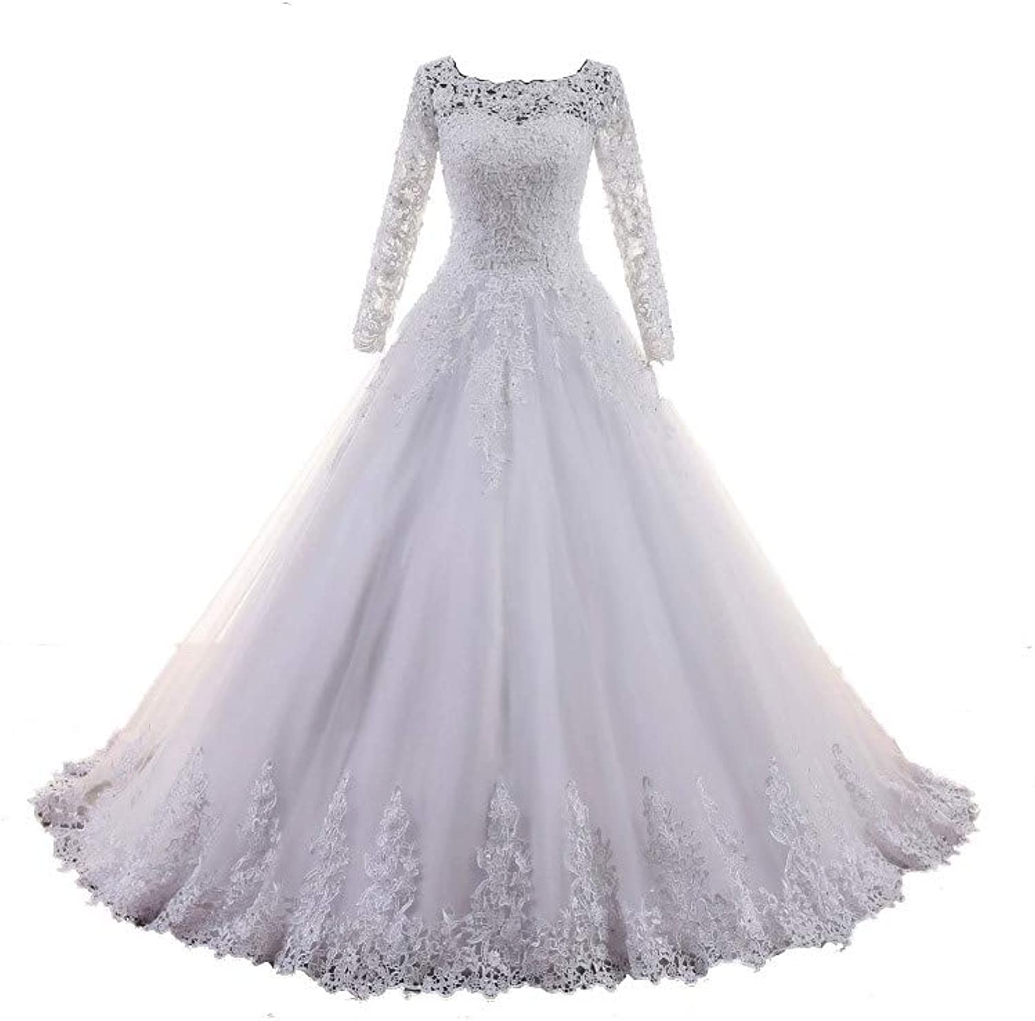 FIGHOUOR Wedding Dress 2019 Embroidery Lace Princess Wedding Gowns Vestidos De Novia