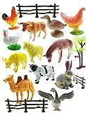 SaleON 12pc Farm Animal Toys Set Model Children Puzzle Early Education Gift Mini Farm Animal Toy Set Realistic Animal Figures Toys for Kids , Animal Toy Set Play for Kids (1295)