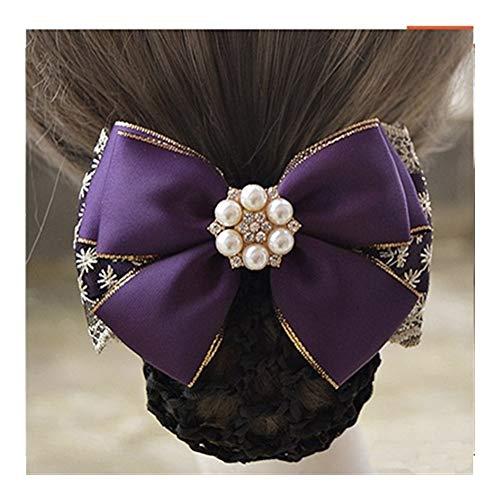 YUNGYE Mode Main Bureau Lady Bow Tie Barrette Barrette Couverture Bowknot Snood Cheveux Accestory (Color : J)
