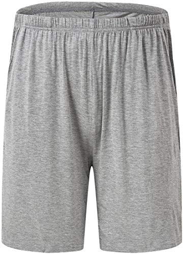 JINSHI Pantalones Cortos de Pijama para Hombre Verano Shorts de Modal con Bolsillos 3Pack-Negro/Gris/Azul X-Large