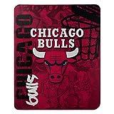The Northwest Company NBA Chicago Bulls 'Hard Knocks' Fleece Throw Blanket, 50' x 60' , Red