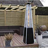 Patio Heaters Outdoor Patio Heaters Outdoor Freestanding Real Flame Gas Pyramid Patio Heater Outdoor Garden with Wheel 13kw FENGNV1009 (Color : A)